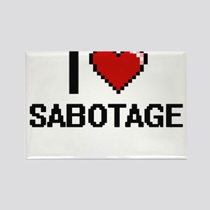 I Love Sabotage Digital Design Magnets