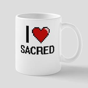 I Love Sacred Digital Design Mugs