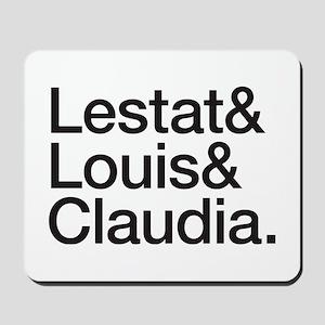 Lestat Louis Claudia - Black Mousepad