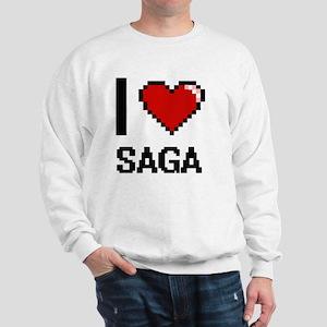 I Love Saga Digital Design Sweatshirt
