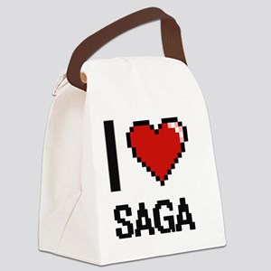 I Love Saga Digital Design Canvas Lunch Bag