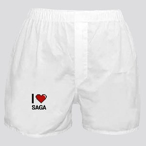 I Love Saga Digital Design Boxer Shorts