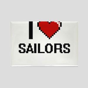I Love Sailors Digital Design Magnets