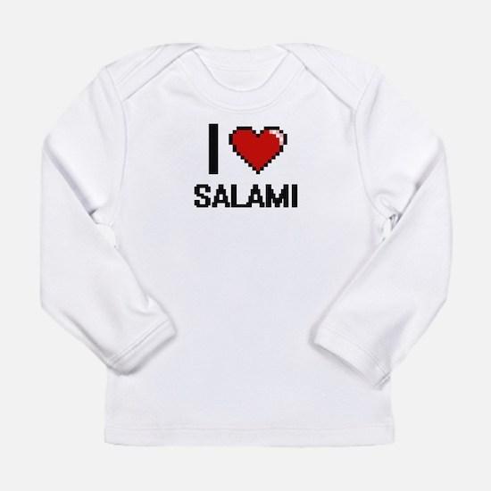 I Love Salami Digital Design Long Sleeve T-Shirt
