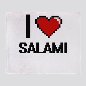 I Love Salami Digital Design Throw Blanket