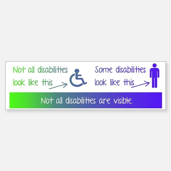 invisible disabilities Sticker (Bumper)