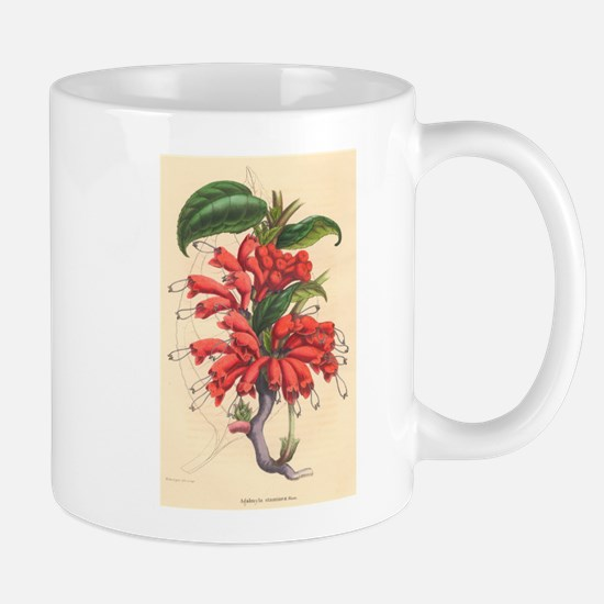 Antique Botanical--Red Flowers Mug