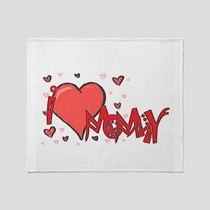 I heart Mommy Throw Blanket