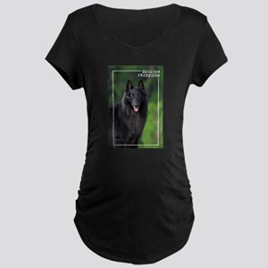 Belgian Sheepdog-1 Maternity Dark T-Shirt