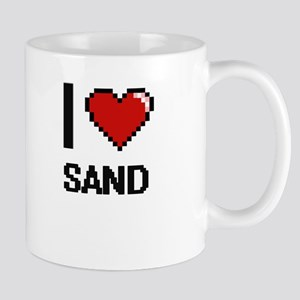 I Love Sand Digital Design Mugs
