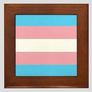 Transgender Pride Flag Framed Tile