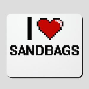 I Love Sandbags Digital Design Mousepad