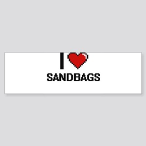 I Love Sandbags Digital Design Bumper Sticker