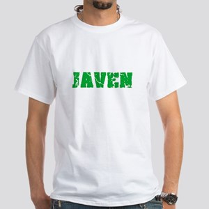 Javen Name Weathered Green Design T-Shirt