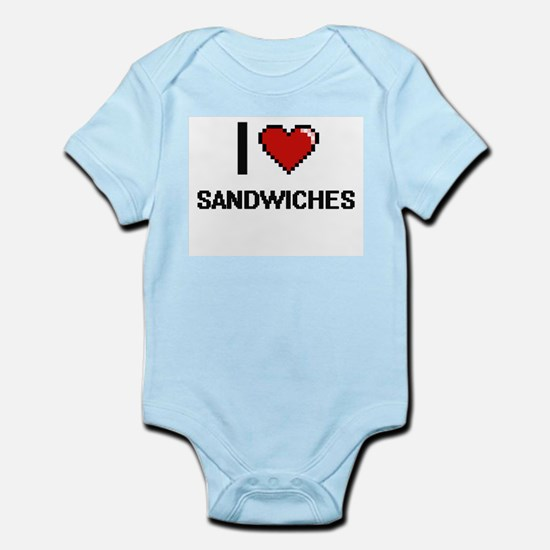 I Love Sandwiches Digital Design Body Suit