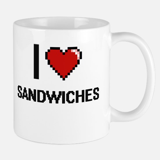 I Love Sandwiches Digital Design Mugs