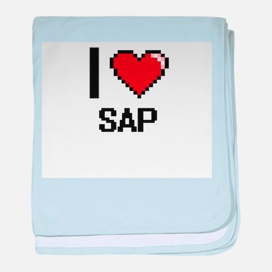 I Love Sap Digital Design baby blanket