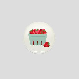 Strawberries Basket Mini Button