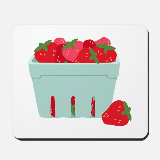 Strawberries Basket Mousepad