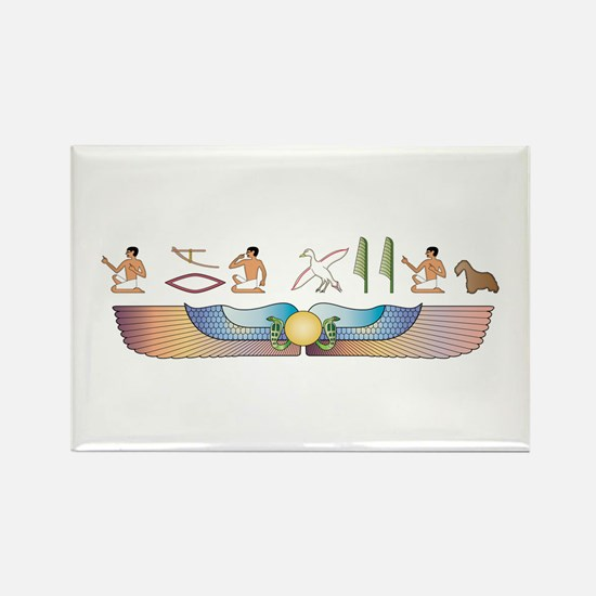 Cesky Hieroglyphs Rectangle Magnet