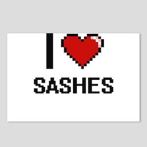 I Love Sashes Digital Des Postcards (Package of 8)