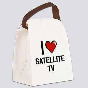 I Love Satellite Tv Digital Desig Canvas Lunch Bag