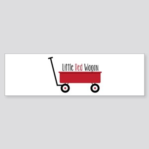Little Red Wagon Bumper Sticker