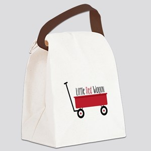 Little Red Wagon Canvas Lunch Bag