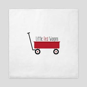 Little Red Wagon Queen Duvet