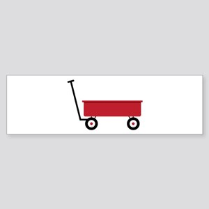 Red Wagon Bumper Sticker