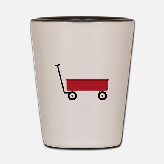 Red Wagon Shot Glass