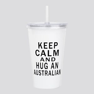 Keep Calm And Australi Acrylic Double-wall Tumbler