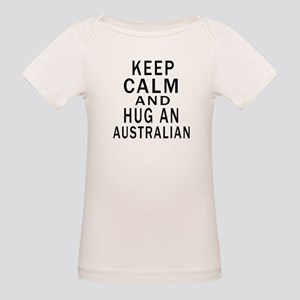 Keep Calm And Australian Desi Organic Baby T-Shirt