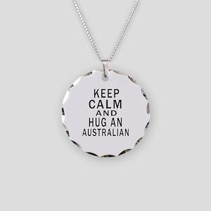Keep Calm And Australian Des Necklace Circle Charm