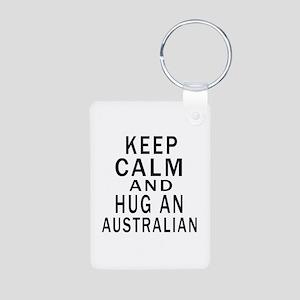 Keep Calm And Australian D Aluminum Photo Keychain