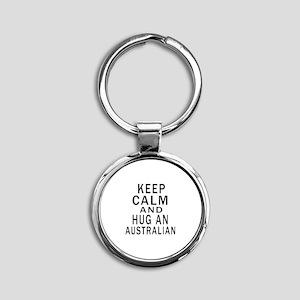 Keep Calm And Australian Designs Round Keychain