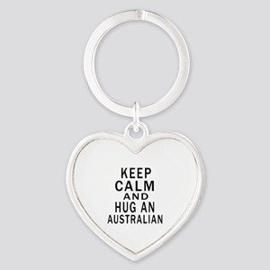 Keep Calm And Australian Designs Heart Keychain