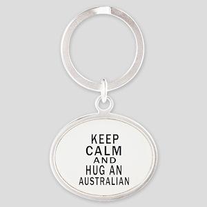 Keep Calm And Australian Designs Oval Keychain