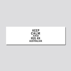 Keep Calm And Australian Designs Car Magnet 10 x 3