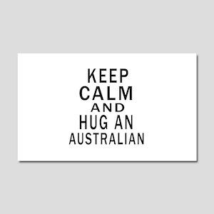Keep Calm And Australian Design Car Magnet 20 x 12
