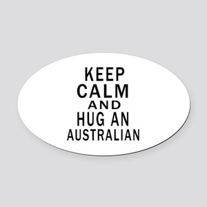 Keep Calm And Australian Designs Oval Car Magnet