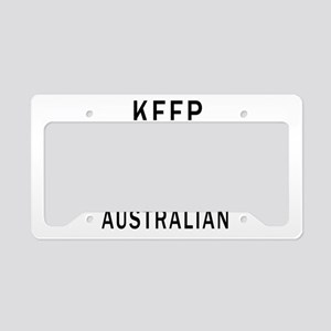 Keep Calm And Australian Desi License Plate Holder
