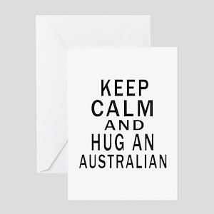 Keep Calm And Australian Designs Greeting Card