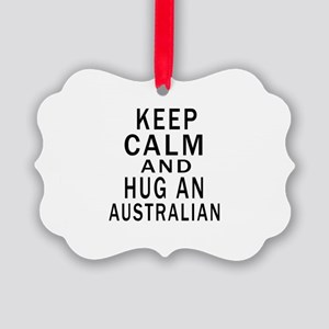 Keep Calm And Australian Designs Picture Ornament