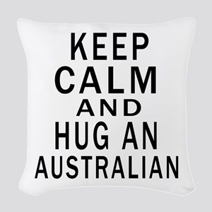 Keep Calm And Australian Desig Woven Throw Pillow