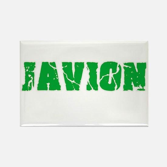 Javion Name Weathered Green Design Magnets