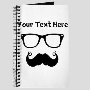 Custom Handlebar Mustache Face Journal