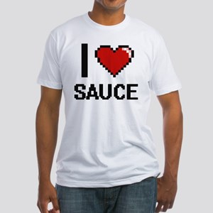 I Love Sauce Digital Design T-Shirt
