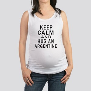 Keep Calm And ARGENTINE or Desi Maternity Tank Top