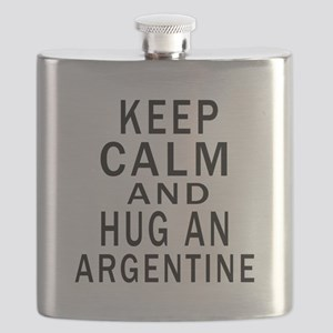 Keep Calm And ARGENTINE or Designs Flask